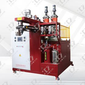 High temperature elastomer pouring machine
